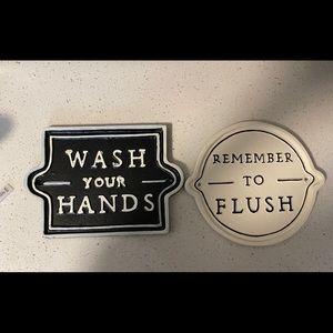 Target Washroom signs